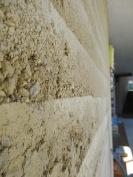 Stampflehmwand im Haus Resi von Architekt Siegfried Meinhart