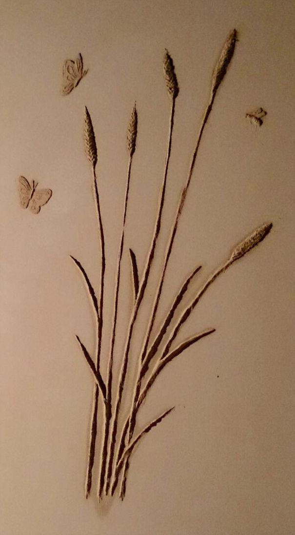 Ähren, Schmetterlinge und Bien